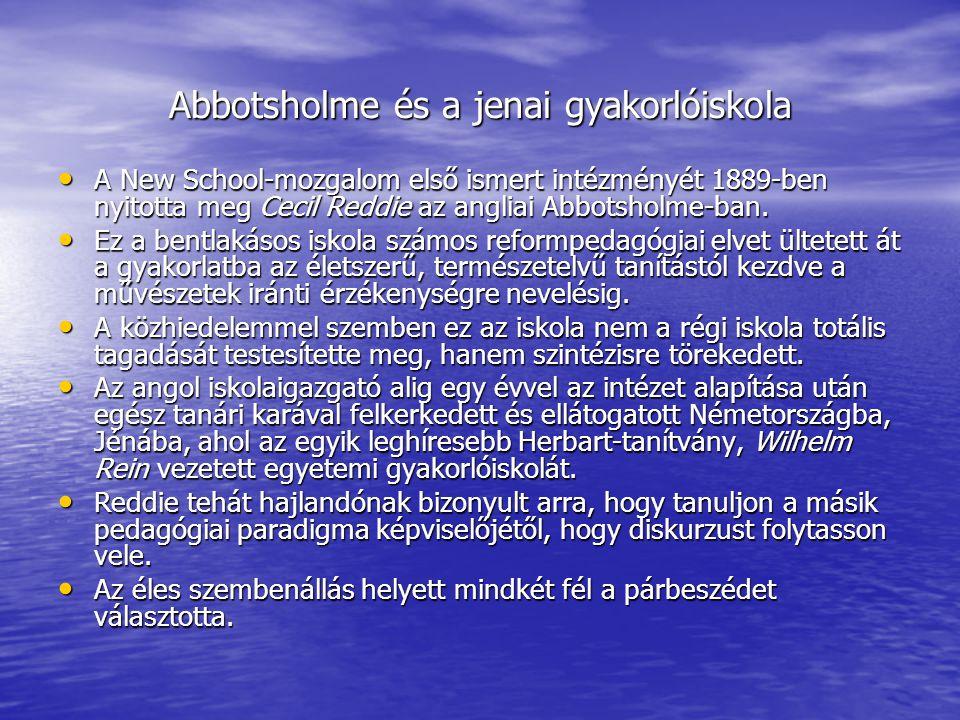 Abbotsholme és a jenai gyakorlóiskola