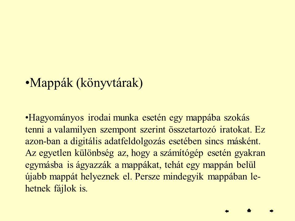 Mappák (könyvtárak)
