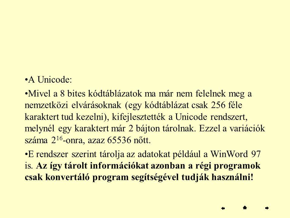 A Unicode:
