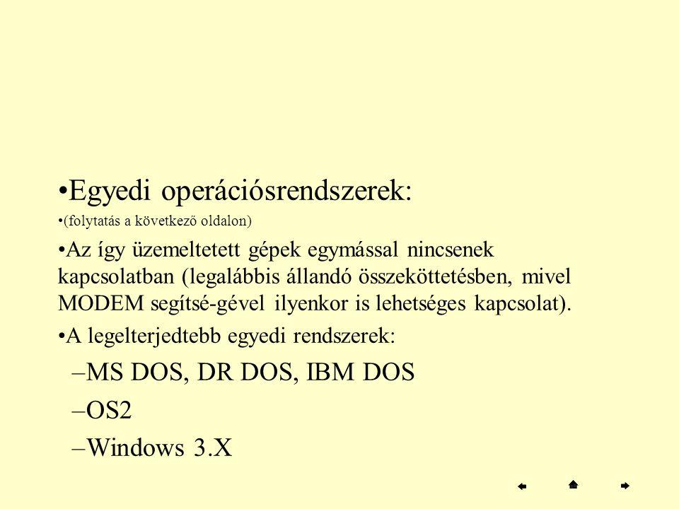 Egyedi operációsrendszerek: