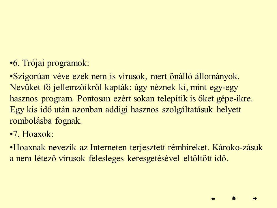 6. Trójai programok:
