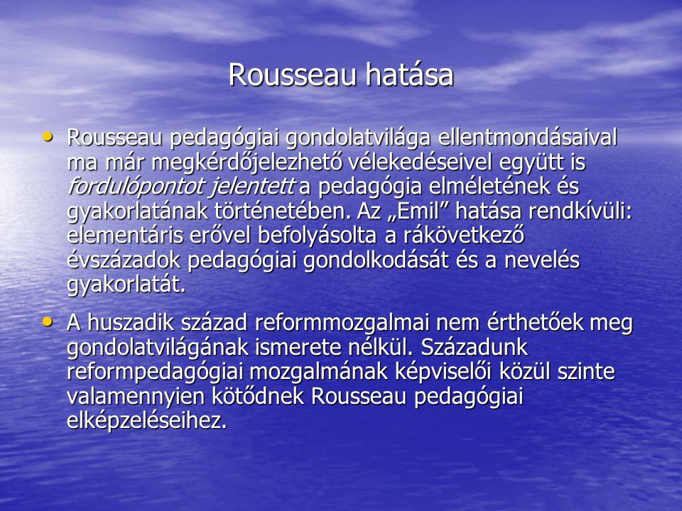 Rousseau hatása