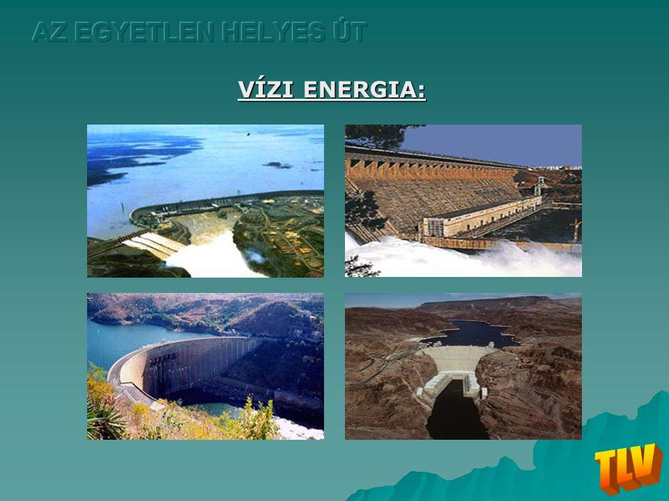 AZ EGYETLEN HELYES ÚT VÍZI ENERGIA: TLV