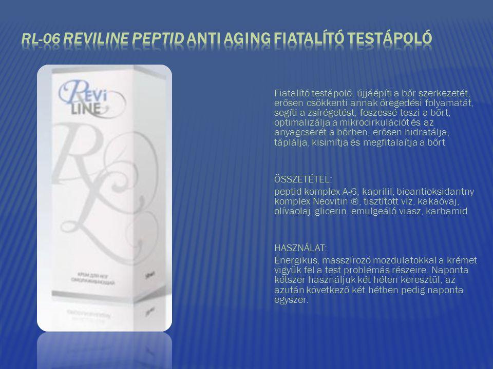 RL-06 REVILINE PEPTID anti aging FIATALÍTÓ TESTÁPOLÓ