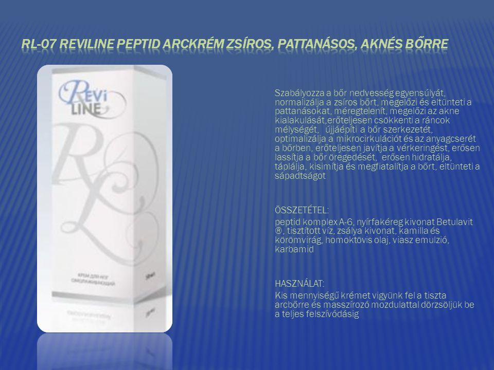 RL-07 REVILINE PEPTID ARCKRÉM ZSÍROS, PATTANÁSOS, AKNÉS BŐRRE