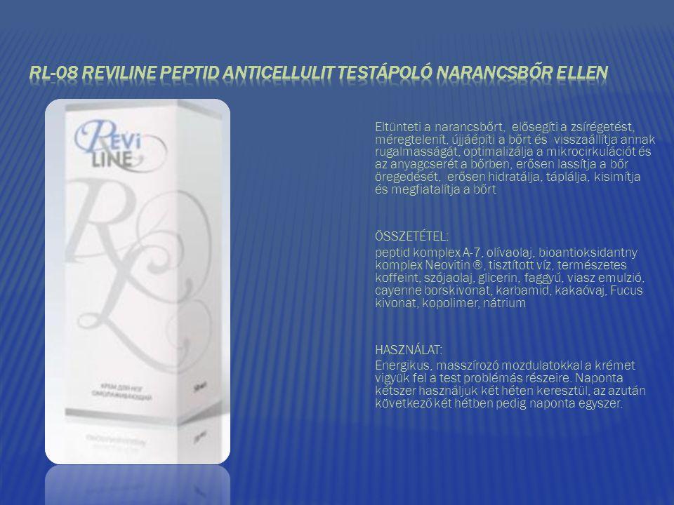 RL-08 REVILINE PEPTID ANTICELLULIT TESTÁPOLÓ NARANCSBŐR ELLEN