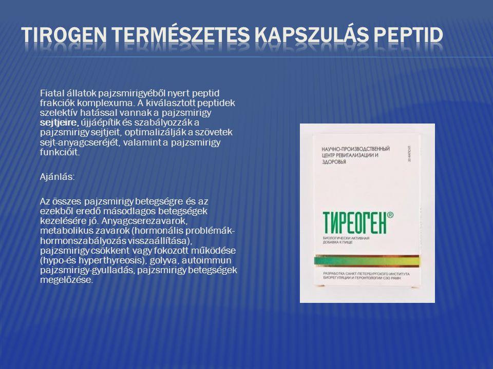 TIROGEN TERMÉSZETES KAPSZULÁS PEPTID