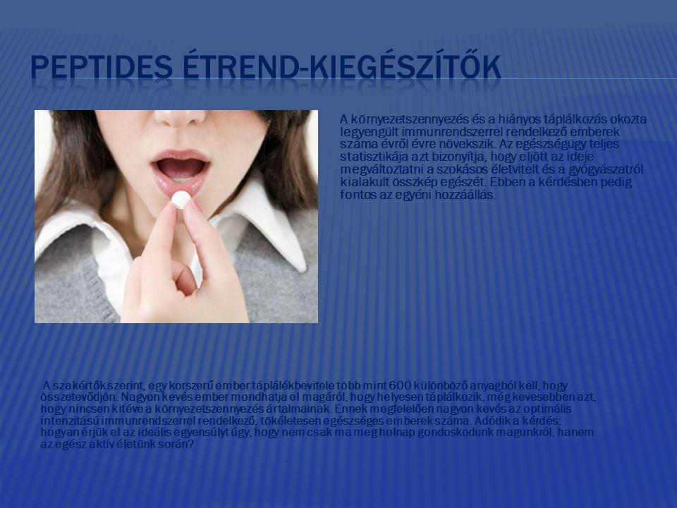 Peptides étrend-kiegészítők