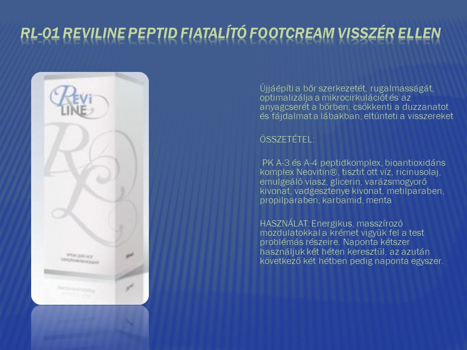 RL-01 REVILINE PEPTID FIATALÍTÓ FOOTCREAM VISSZÉR ELLEN