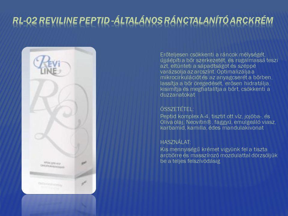 RL-02 REVILINE PEPTID -ÁLTALÁNOS RÁNCTALANÍTÓ ARCKRÉM