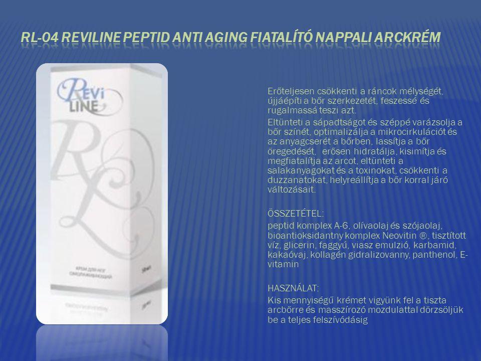 RL-04 REVILINE PEPTID ANTI AGING FIATALÍTÓ NAPPALI ARCKRÉM