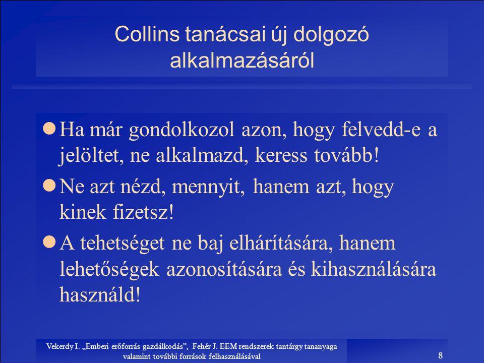 Collins tanácsai új dolgozó alkalmazásáról