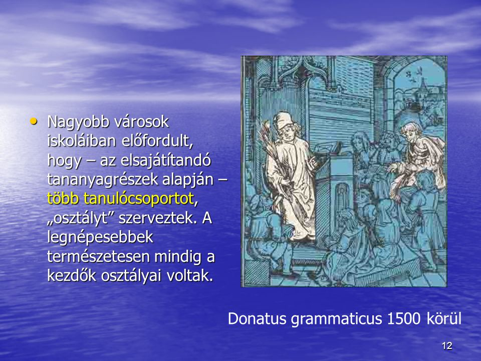 Donatus grammaticus 1500 körül