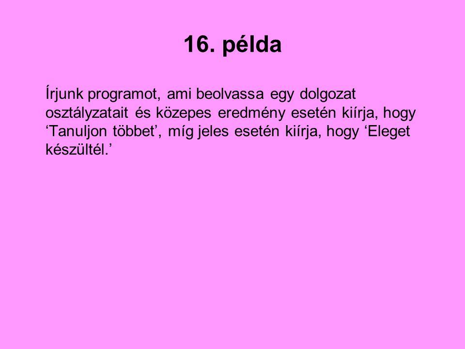16. példa