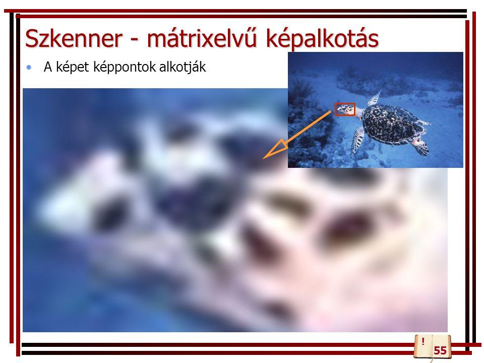 Szkenner - mátrixelvű képalkotás