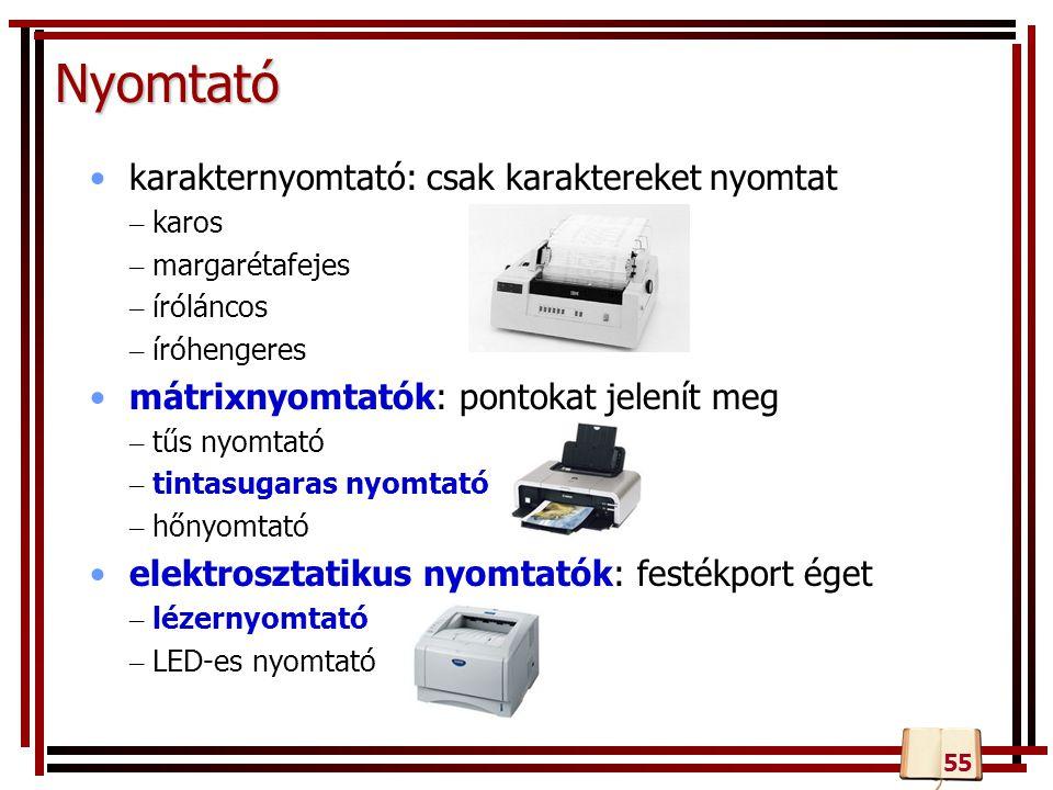 Nyomtató karakternyomtató: csak karaktereket nyomtat