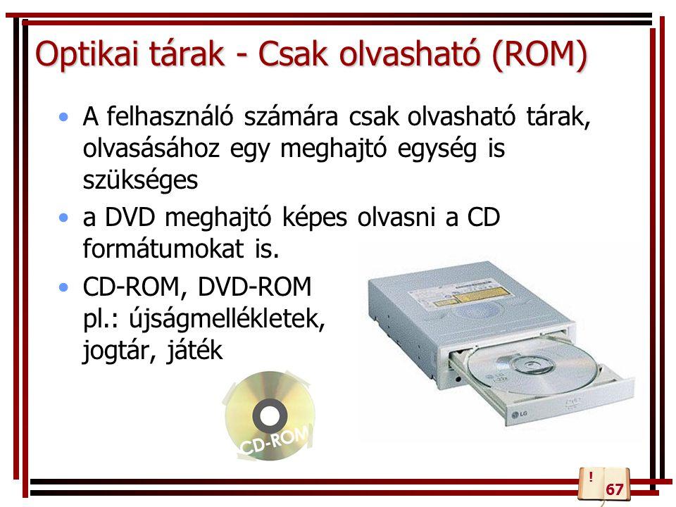 Optikai tárak - Csak olvasható (ROM)