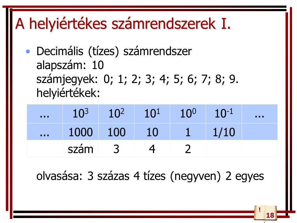 A helyiértékes számrendszerek I.