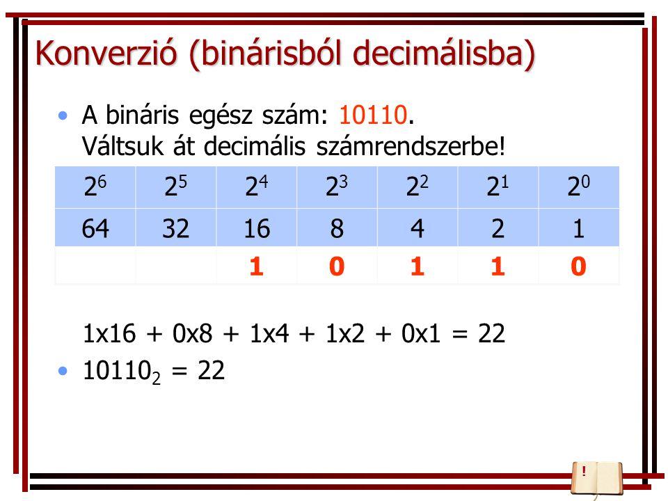 Konverzió (binárisból decimálisba)