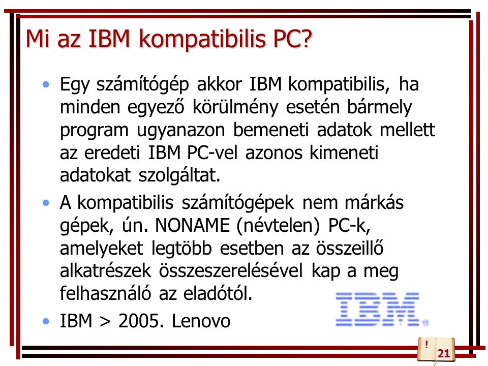 Mi az IBM kompatibilis PC