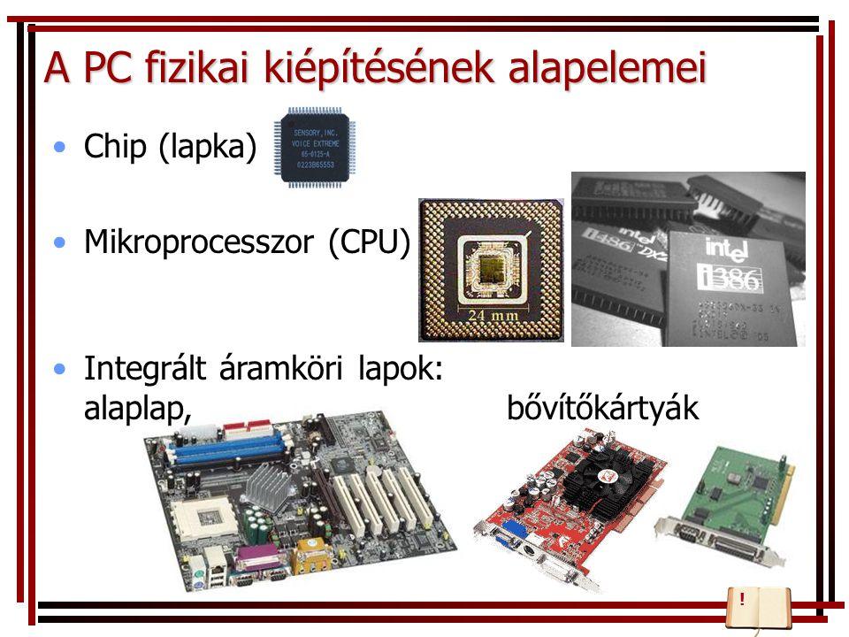 A PC fizikai kiépítésének alapelemei