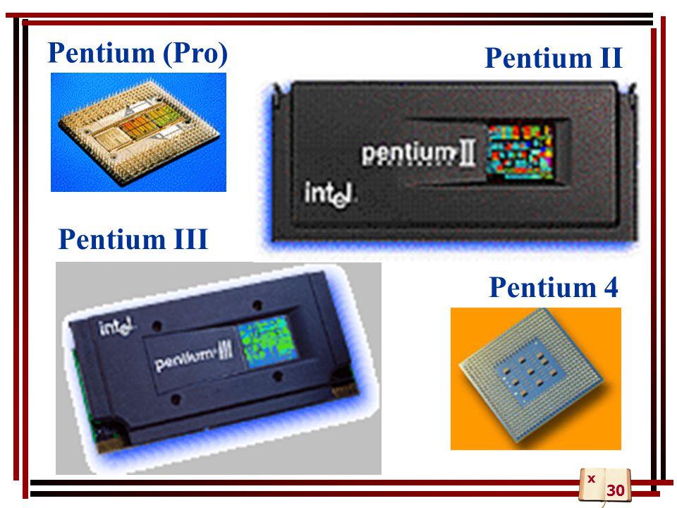 Pentium (Pro) Pentium II Pentium III Pentium 4 x 30