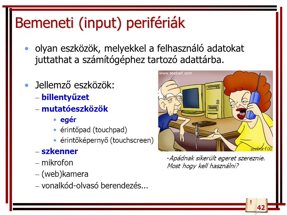 Bemeneti (input) perifériák