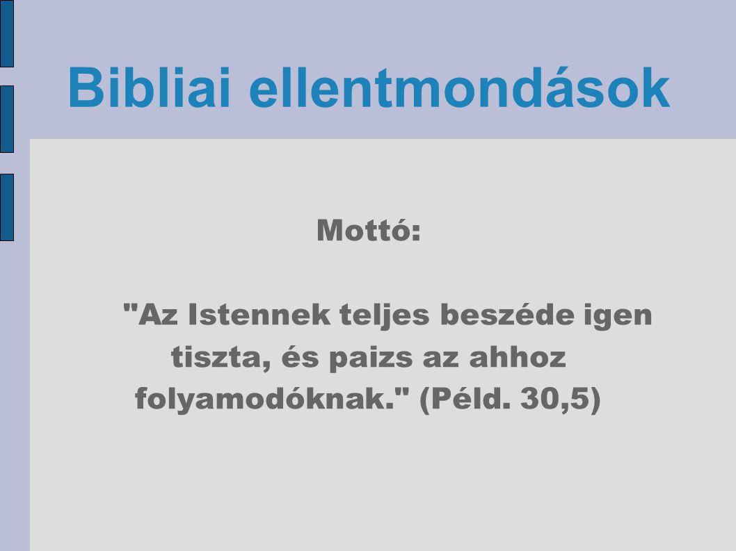 Bibliai ellentmondások