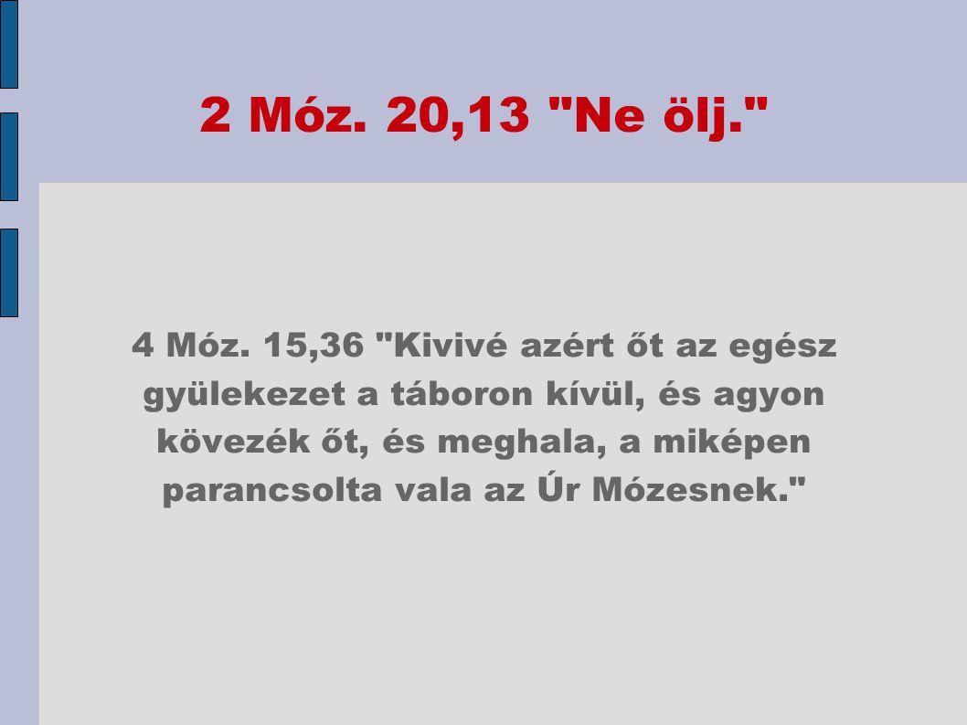 2 Móz. 20,13 Ne ölj.
