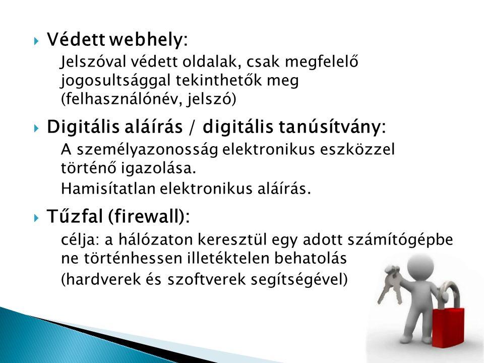 Digitális aláírás / digitális tanúsítvány: