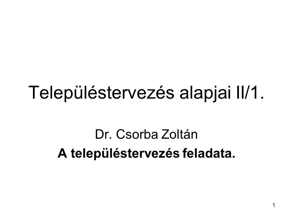 Településtervezés alapjai II/1.