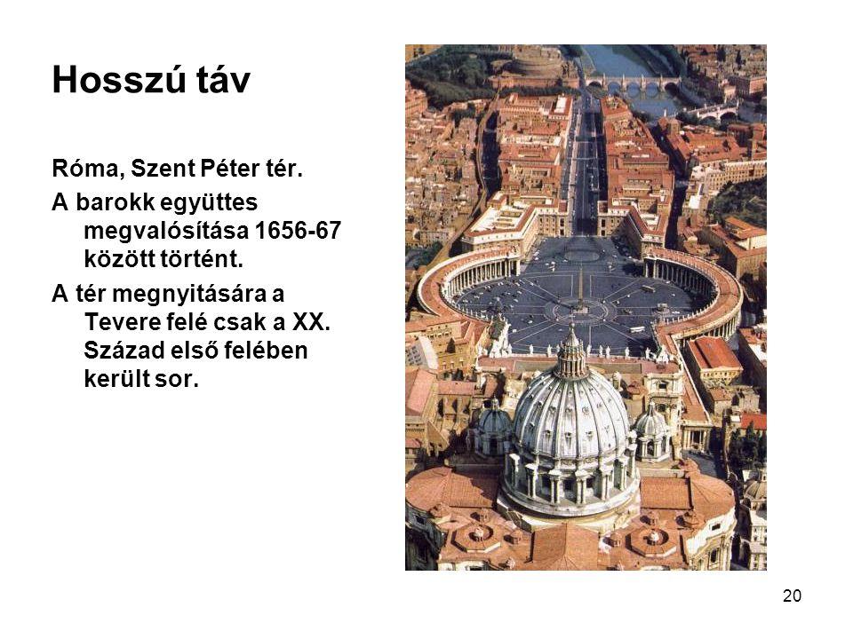 Hosszú táv Róma, Szent Péter tér.