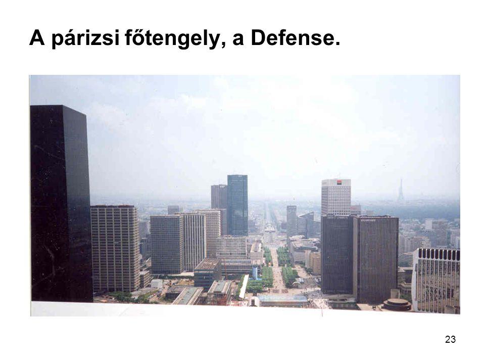 A párizsi főtengely, a Defense.