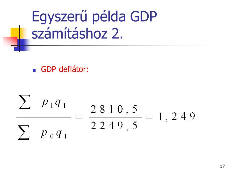 Egyszerű példa GDP számításhoz 2.