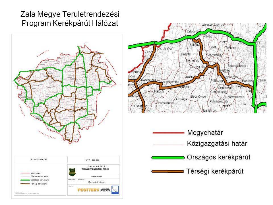 Zala Megye Területrendezési Program Kerékpárút Hálózat