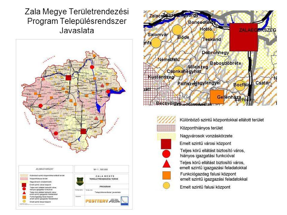 Zala Megye Területrendezési Program Településrendszer Javaslata