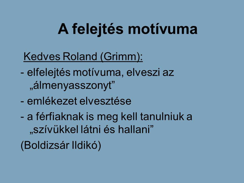 A felejtés motívuma Kedves Roland (Grimm):