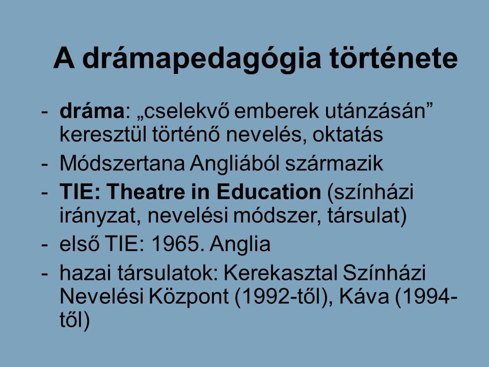 A drámapedagógia története