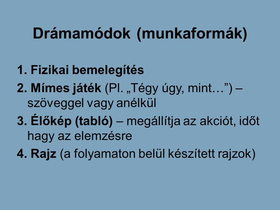 Drámamódok (munkaformák)