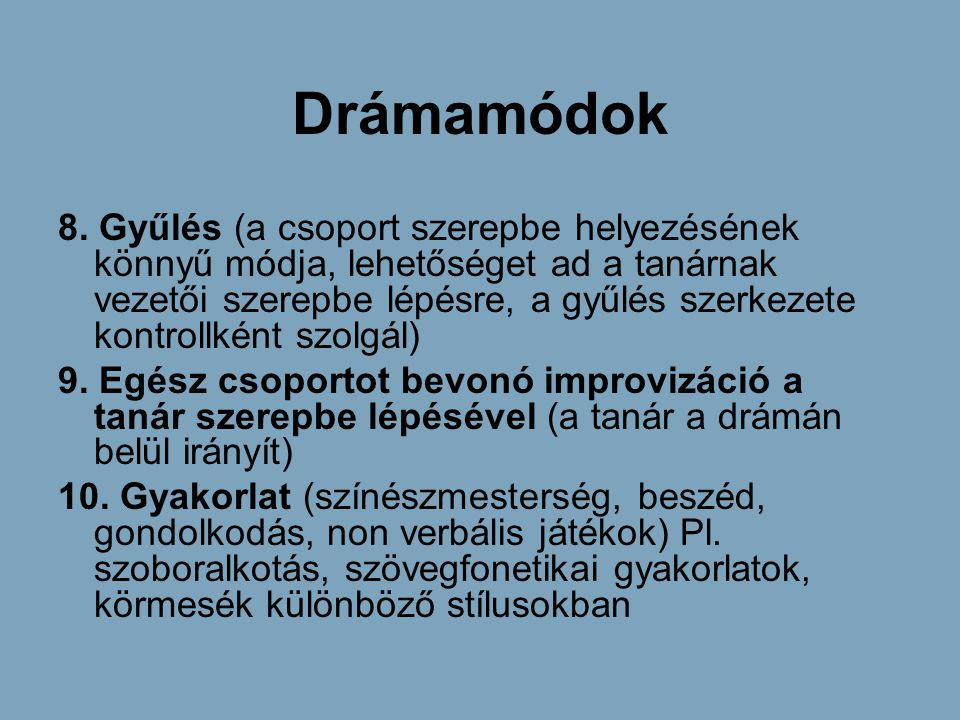Drámamódok