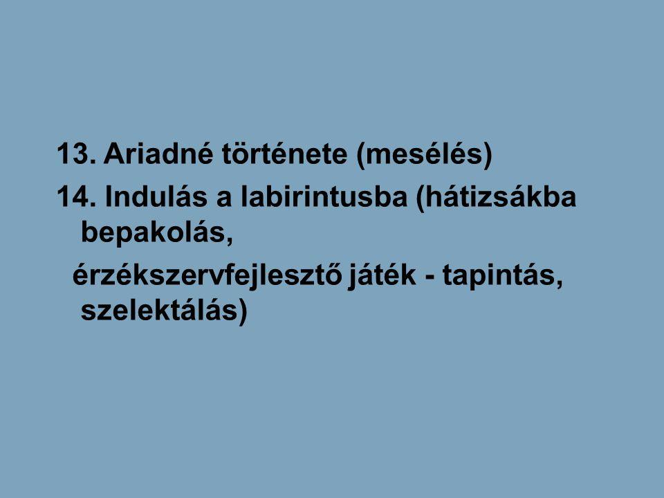 13. Ariadné története (mesélés)