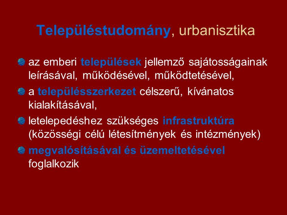 Településtudomány, urbanisztika