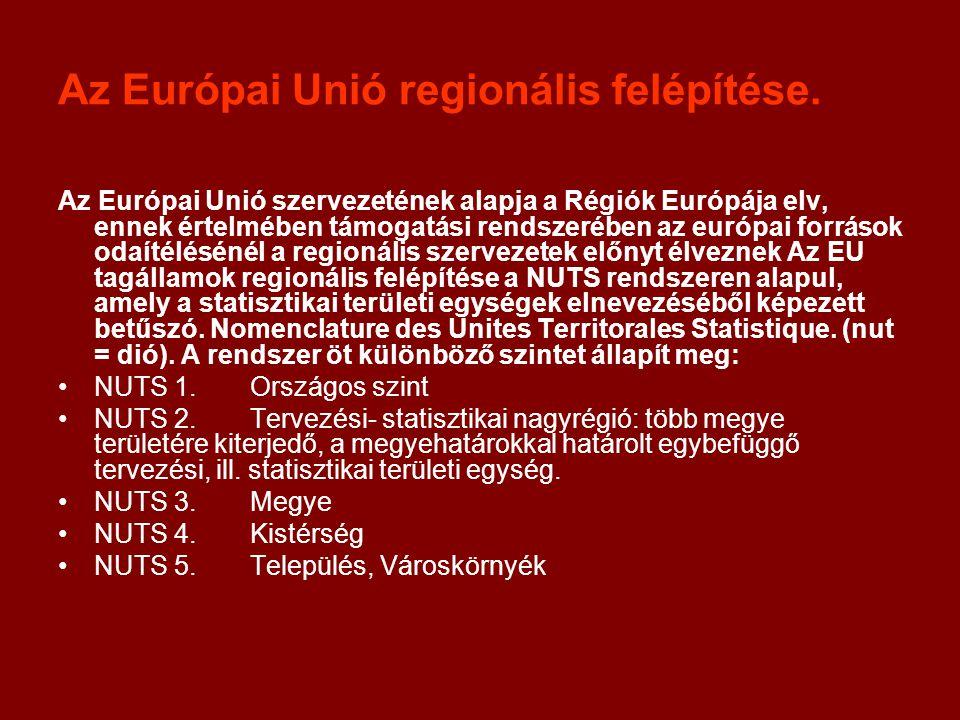 Az Európai Unió regionális felépítése.