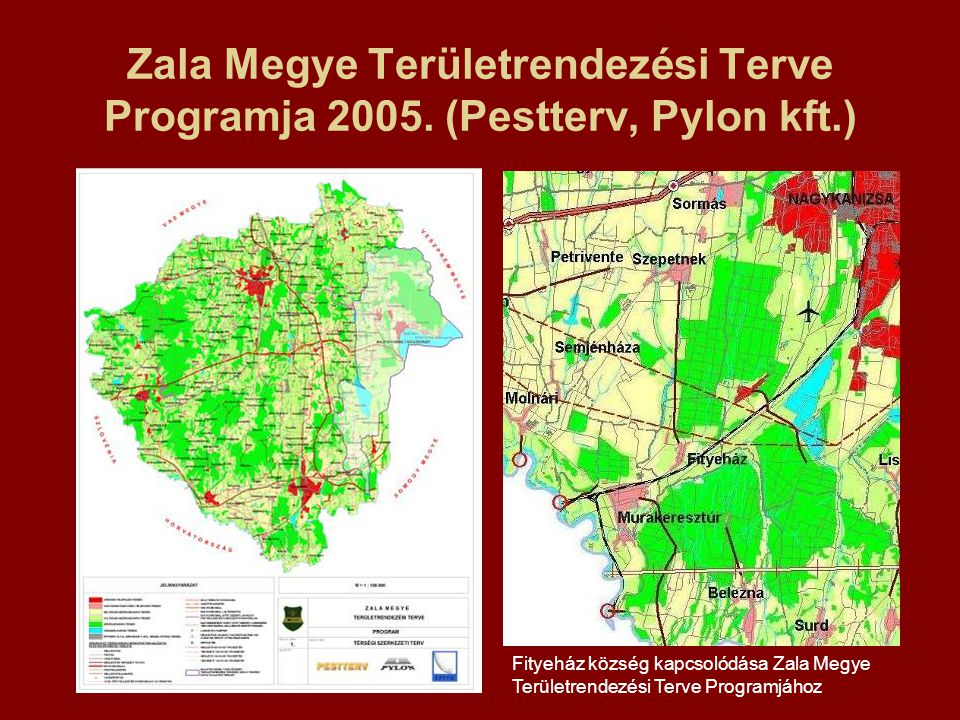 Zala Megye Területrendezési Terve Programja 2005. (Pestterv, Pylon kft