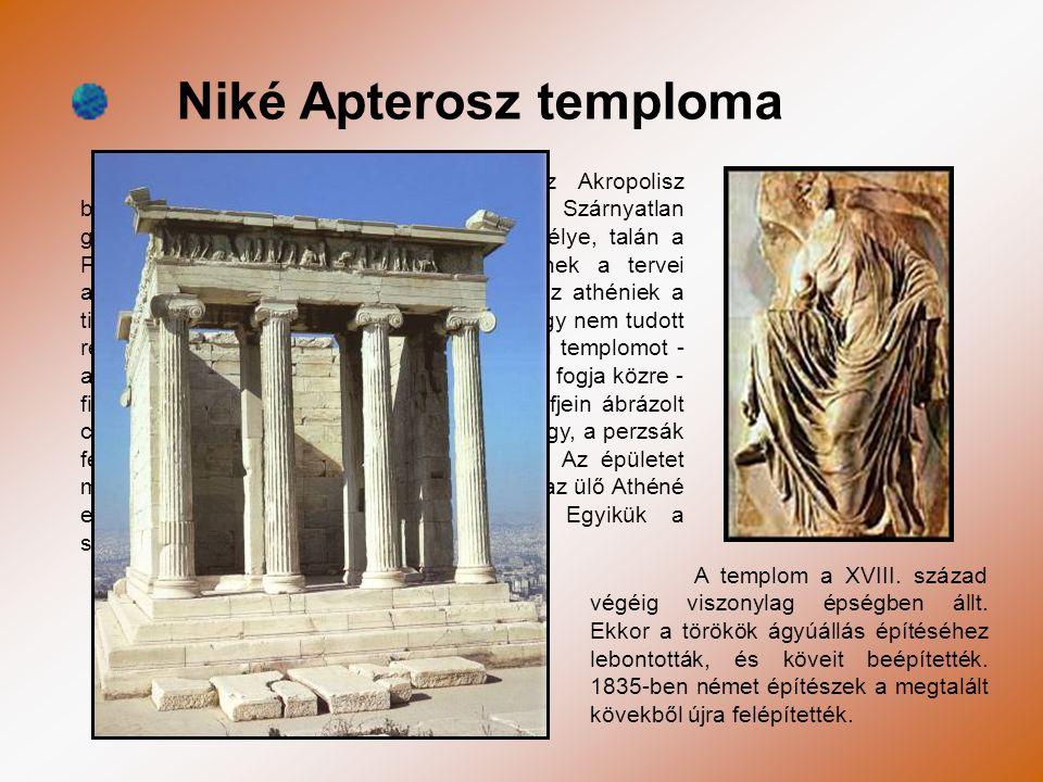 Niké Apterosz temploma