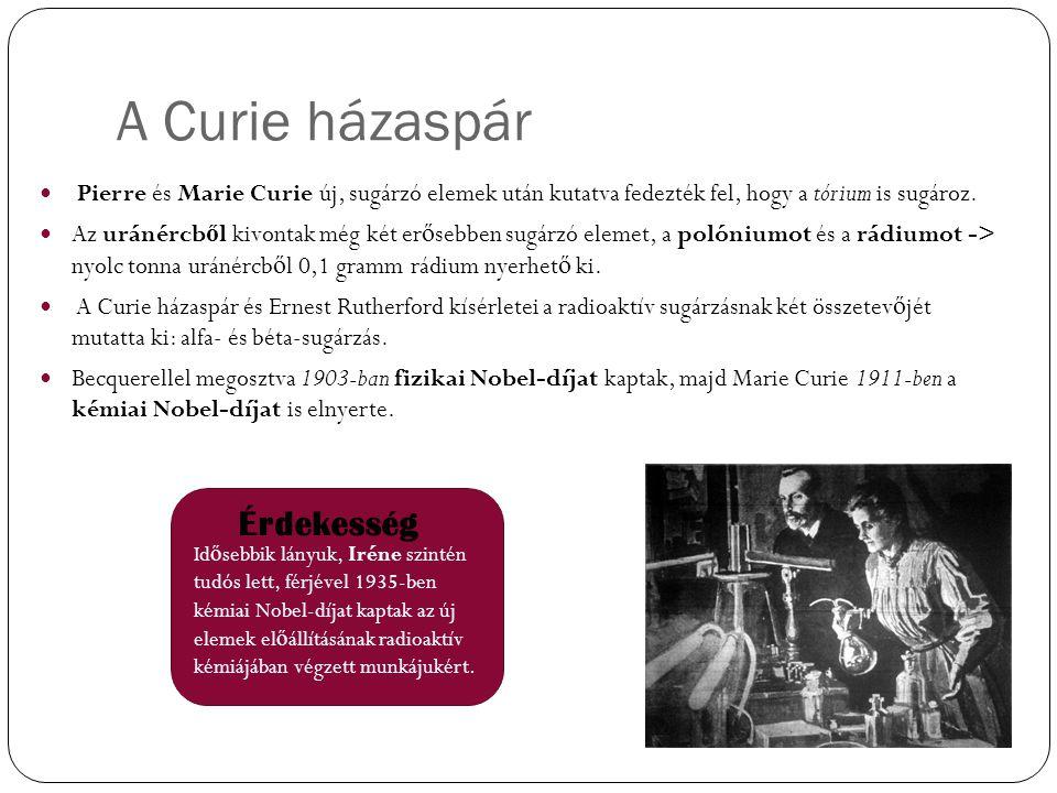 A Curie házaspár Érdekesség