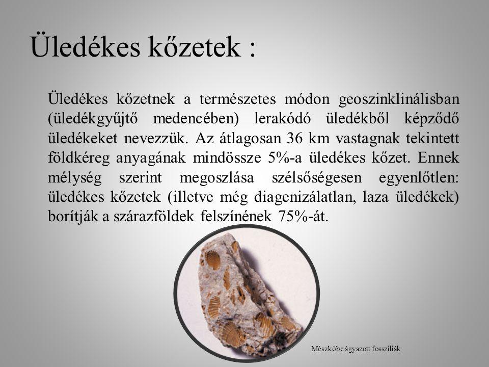 Üledékes kőzetek :
