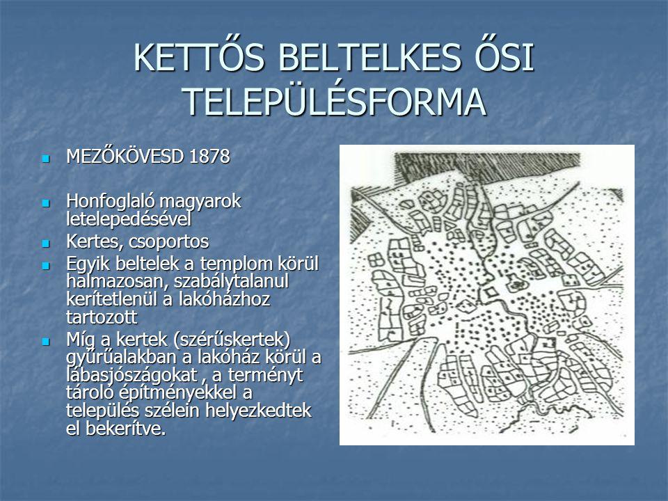 KETTŐS BELTELKES ŐSI TELEPÜLÉSFORMA