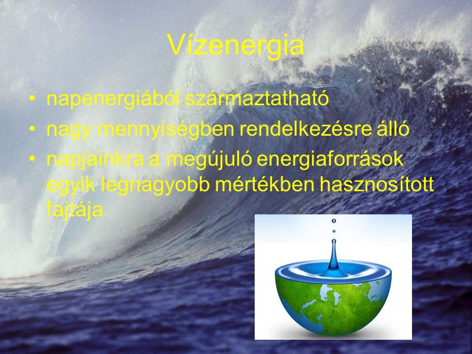 Vízenergia napenergiából származtatható