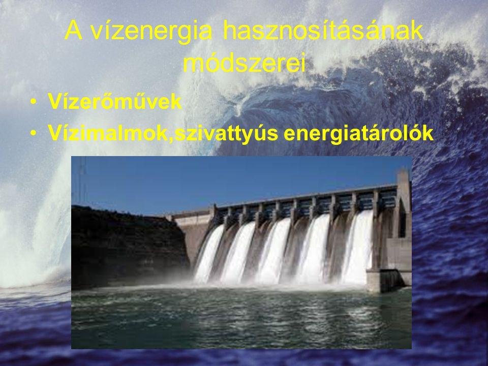 A vízenergia hasznosításának módszerei